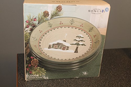Sonoma Home Goods LODGE Set/4 Dinner Plates 10 1/4