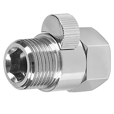 Shower Flow Control Valve, Solid Brass Shower Head Shut Off Valve G 1/2 with Brass Handle Polished Chrome, Ceramic Valve Core by Aisoso