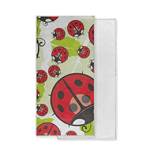 Ernest Congreve Microfiber Quick Dry Travel Towel Cartoon Ladybug The Leaves Lightweight Compact Fast Drying Beach Towels for Travel Camping Beach Gym Sports Swimming Yoga Fitness