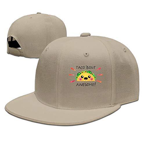 Sdkkfbha Taco Bout Awesome Unisex Adjustable Flat Visor Hat Baseball Cap