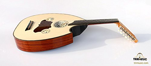 Turkish Professional Half Cut Electric Oud Ud String Instrument AOH-201G by Sala Muzik