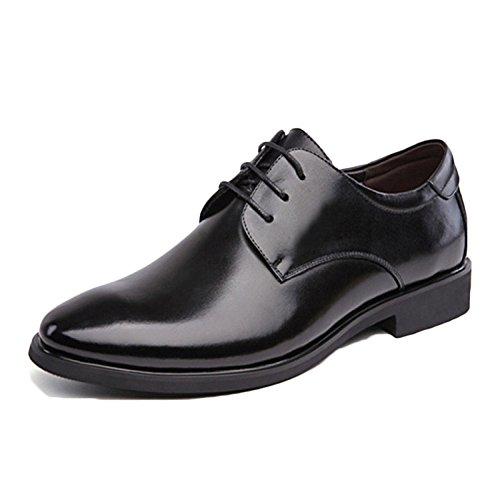Chaussures en Cuir pour Hommes Noir Cravate Casual Doux Commerce Printemps Dentelle Hommes Chaussures Anti-D