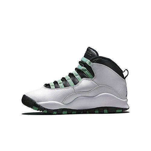 Ragazze Nike Air Jordan 10 Retro 30 Scarpe Da Basket Verde Gg - 705180 118 Bianco / Nero / Rosso