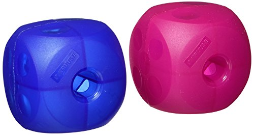 Kruuse Buster Soft Mini Cube Feeder (18 Unit Display Pack 9 Magenta Red and 9 Blue) by Kruuse