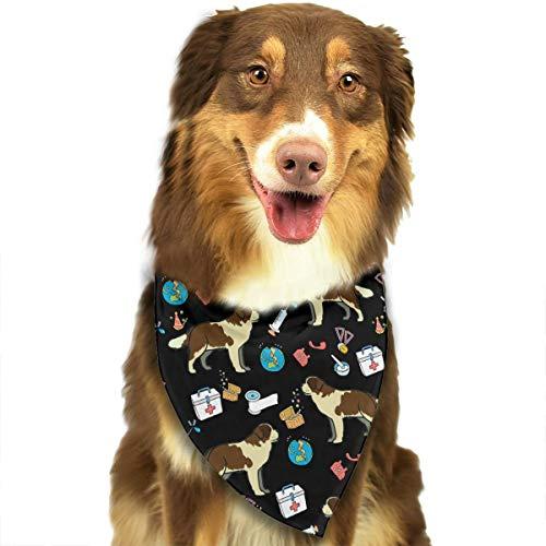 OURFASHION Saint Bernard Dog Art Bandana Triangle Bibs Scarfs Accessories for Pet Cats and -