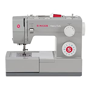SINGER 4423 Heavy Duty Model Sewing Machine, With 23 Built-In Stitches, 1 Automatic 4-step buttonhole, 12 Embroidery Designs and 6 Basic Stitches