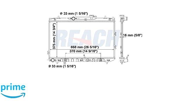 2009 kia spectra engine diagram amazon com reach cooling rea41 2784a radiator automotive  amazon com reach cooling rea41 2784a