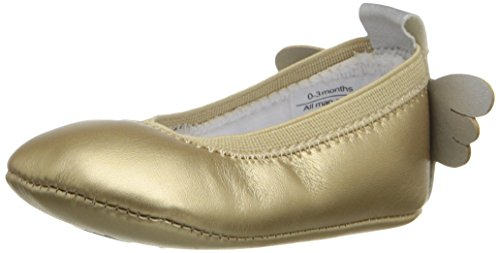 Rosie Pope Kids Footwear Prewalker Angel Wings Crib Shoe (Infant), Gold, 9-12 Months M US Infant