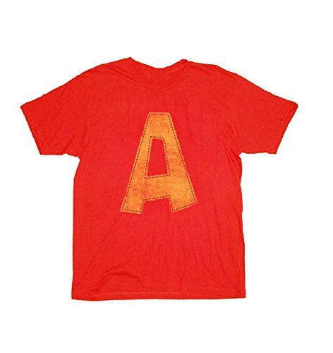 Alvin and the Chipmunks Alvin A Distressed Red Youth T-shirt Tee -
