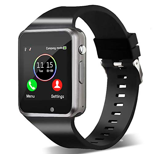 Smart Watch,Unlocked Touchscreen Smartwatch Compatible with Android/Bluetooth/iOS (Partial Functions) Call and Text…