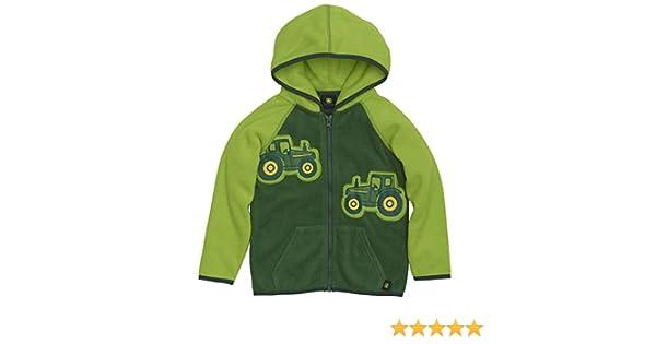 John Deere Toddler Boys Micro Fleece Zip Hoodie Lime Green LP67510 Multi-Packs