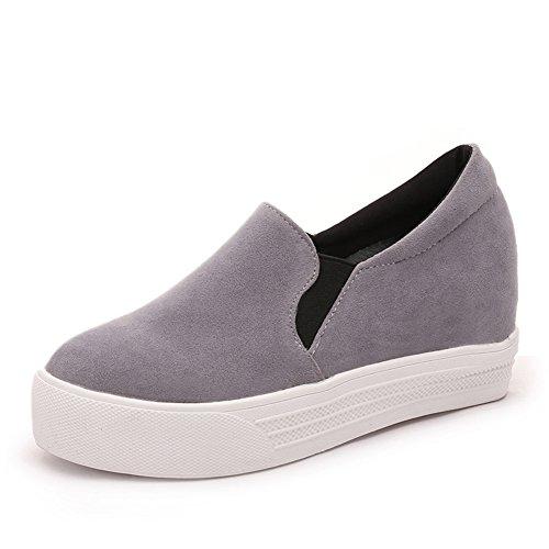 Escuela de primavera y otoño viento Coreano zapatos de gente perezosa zapatos planos/Zapatos de plataforma de fondo grueso/Zapatos del ocio A