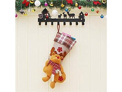 Hermosa decoración navideña Calcetines de Navidad Decoración de Navidad Embalaje (Alces)