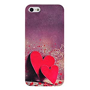 Double Hearts Pattern TPU Soft GEL Case for iPhone 5/5S