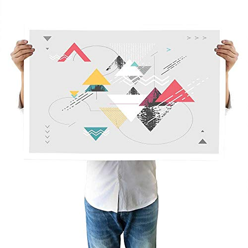 Abstract Walls Abstract Geometric Modern Design with Triangle and Typed Detailed Art Decor 32