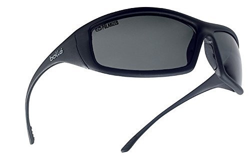 Bollé Safety 253-SS-40065 Solis Safety Eyewear with Shiny Black Nylon + TPR/Polycarbonate Full Frame and Polarized Gray Lens (Polarized Lens Gray Frame)