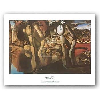 Salvador Dali Metamorphosis of Narcissus Surrealism Abstract Print Poster 11x14
