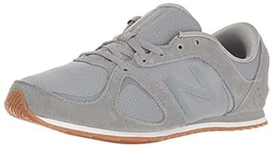 New Balance Women's 555 Lifestyle Fashion Sneaker-Suede/Mesh Running Shoe, Grey/Grey, 6 D US