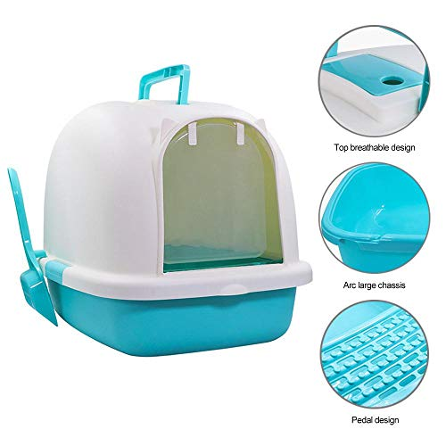 Amazon.com : AUOKER Cat Litter Box with Lid Extra Large, Enclosed Sifting Cat Litter Box Set with Scoop for Pets Cats Kitten, Hooded Cat Litter Trays Pan ...