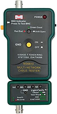 MASTECH MS6810 Cable De Red Tester Multi-cable Detector Para Cable Coaxial (BNC) Cable UTP STP: Amazon.es: Amazon.es