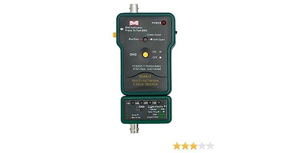 MASTECH MS6810 Cable De Red Tester Multi-cable Detector Para Cable Coaxial (BNC) Cable UTP STP: Amazon.es: Amazon.es