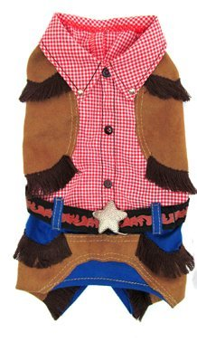 Cowboy Costume for Dogs (Size 4 (12.5'' l x 16'' - 18.5'' girth))
