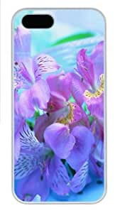 iPhone 5c Case, iPhone 5c Cases -Freesia Flower Polycarbonate Hard Case Back Cover for iPhone 5c ?¡ìC White Kimberly Kurzendoerfer