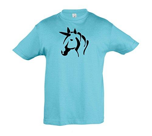 Atollo Camicia ragazza Einhorn modelli più e 2store24 bambini 1 ragazzo Unicorno per per blu in qAwrZPq