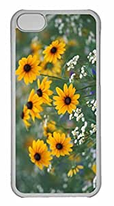 iPhone 5C Case, Personalized Custom Black Eyed Susans And Daisy Fleabane Kentucky for iPhone 5C PC Clear Case