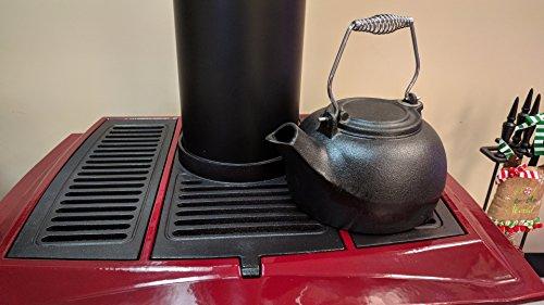 Vogelzang TK-02 Fireplace Kettles, Cast Iron, 3 Quart