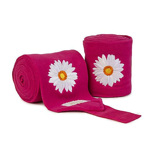 Lettia Embroidered Fleece Daisy Polo Wraps
