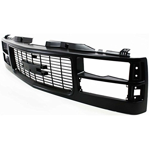 Diften 104-C2123-X01 - New Grille Assembly Black GMC C1500 Suburban 96 95 94 Truck GM1200357 12375422