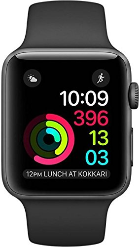 Apple Watch Series 1 42mm Smartwatch (Space Gray Aluminum Case/Black Sport Band) by Apple