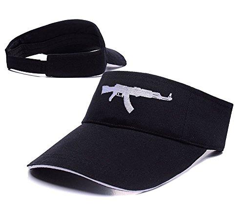 RHXING AK-47 Adjustable Sports Visor Cap Embroidery Sun Hat Visors