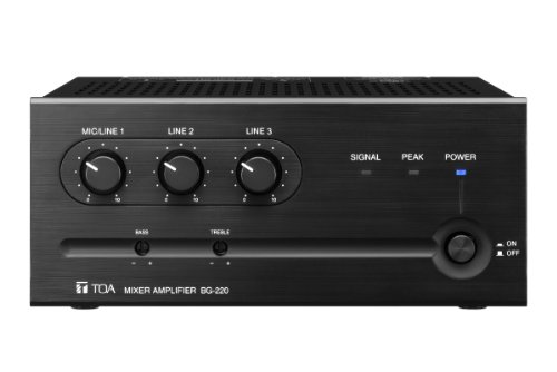 TOA BG-220CU 20W Mixer/Amplifier with 3 Inputs and MOH Output by TOA