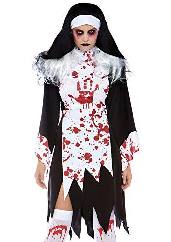 Leg Avenue Women's Costumes, Black/White, X-Large