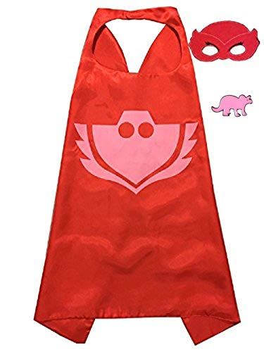 (Superhero Cape and Mask Costume for Kids with Pin)