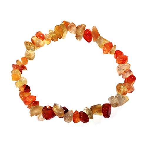 CrystalAge Carnelian Gemstone Chip Bracelet ()