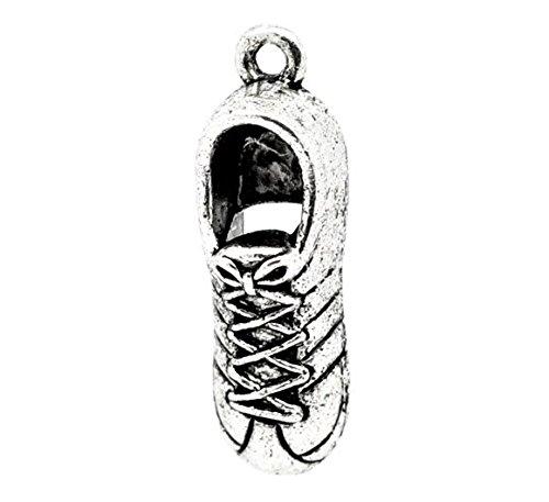 Chaussures Baskets Sneakers Running Sport 3D Lot de 5/charms Pendentifs Perles en argent tib/étain
