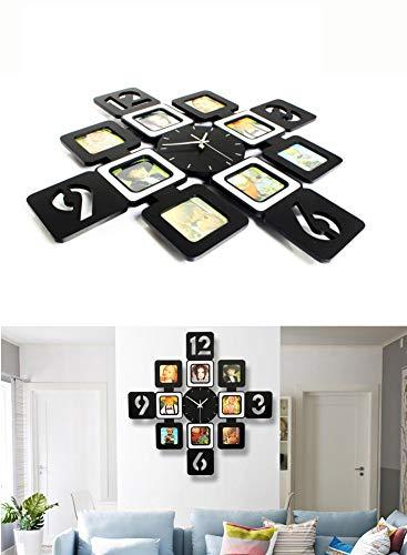 YXMxxm DIY Frame Clock,Modern Design DIY Photo Frame Clock High Density Board Art Pictures Clock - Make Your Own Multi-Photo Clock by YXMxxm (Image #5)