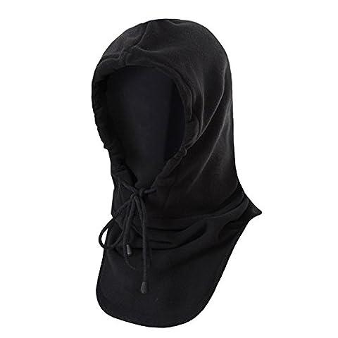 Winter Warm Tactical Heavyweight Balaclava Outdoor Sports Face Mask, Black, One Size - Winter Balaclava