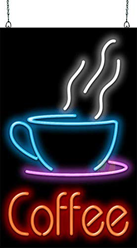 Coffee w/Cup Neon Sign Large ()