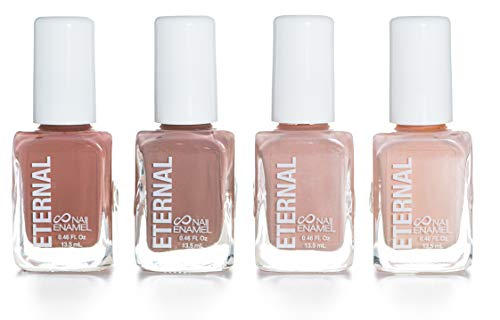 Eternal 4 Collection - Set of 4 Nail Polish: Long Lasting, Mirror Shine, Quick Dry, Neutral Colors (Wild Nudes)