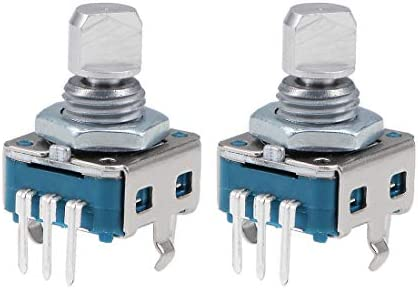 uxcell 2PCS 6mm D Shaft 5 Pins 360 Degree Rotary Encoder w Push Button Switch