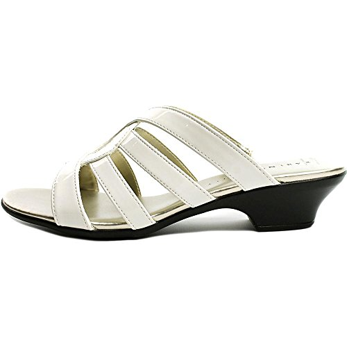 Karen Scott Emet - Sandalias de vestir de Charol para mujer blanco blanco