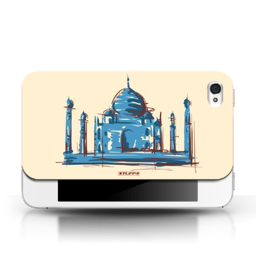 iCHOOSE Print Motif Coque de protection Case / Plastique manchon de telephone Coque pour Apple iPhone 4/4S / Collection Monuments / Taj Mahal/Indie