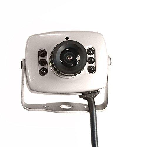 Night Vision Pinhole Camera (Eachbid 6LED Wired CMOS CCTV Security Camera Nanny Cam Night Vision Pinhole Mini Camera Digital Video Camera Mini AHD Micro DVR)