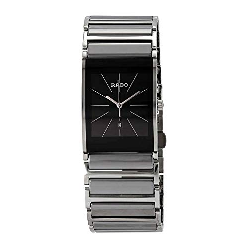 - Rado Men's R20784159 Integral Black Dial Platinum Ceramic Watch