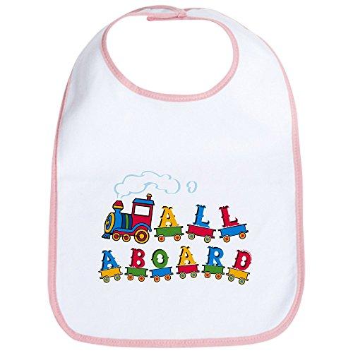 CafePress - All Aboard Bib - Cute Cloth Baby Bib, Toddler Bib (Bib Aboard)