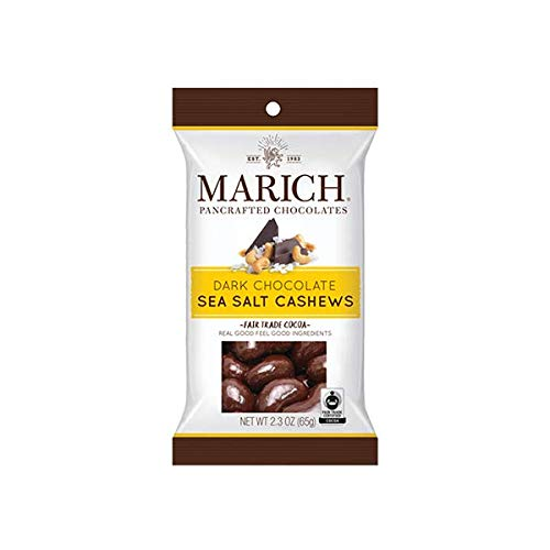 (Marich Premium Dark Chocolate Sea Salt Cashews, 2.3-Ounce (Pack of 12))